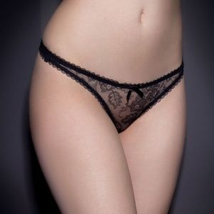 NWT Agent Provocateur Georgie Midnight Blue Thong